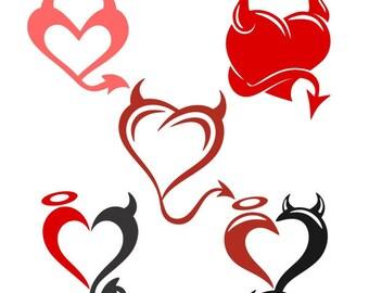 devil heart svg etsy