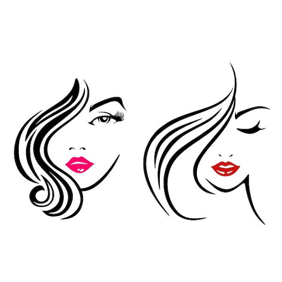 Cheveux Commode Make Up Salon Mode Couper Design Png Dxf Svg Etsy