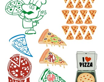 Pizza Food Cuttable Design PNG DXF SVG & eps File Silhouette Designs Cameo