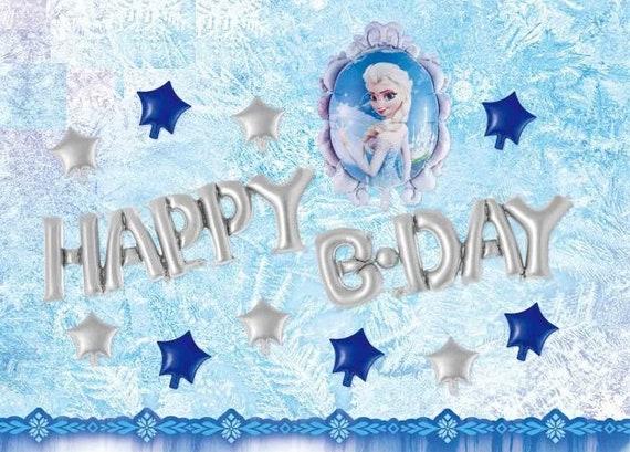Joyeux Anniversaire Elsa Et Princesse Ana Frozen Fete Ballons Etsy
