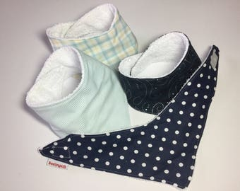 Bandana Bibs - boy (set of 4)