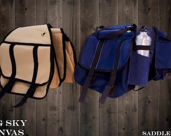 Big Sky Canvas Saddle Bag With Bottler Holder