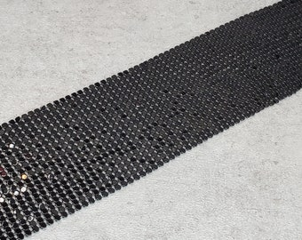 Black metal mesh fabric, metal mesh ribbon for DIY, Home disco decorations Black silver gold red turquoise Mesh, 80s Disco Style