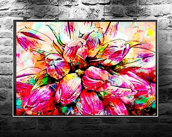 Tulips, art, Pink Tulips, tulip print, original painting, flower painting, instant download, printable art, pink, flowers, modern art
