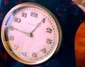 Antique Small Early ART DECO Tortoiseshell BOUDOIR Clock - keeping time