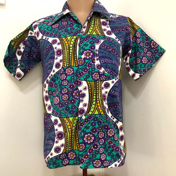 Men's 1960's Psychedelic Cotton Shirt