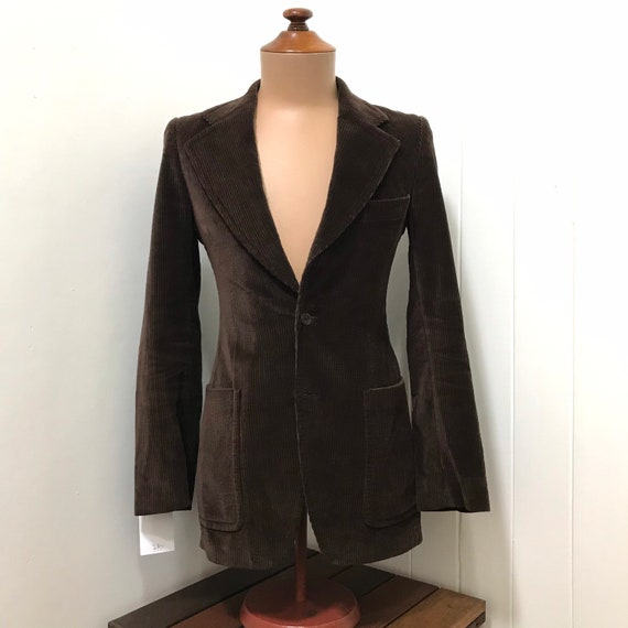 Vintage 1970's Men's Brown Cotton Corduroy Jacket