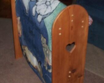 Rustic Wood Quilt Afghan Holder