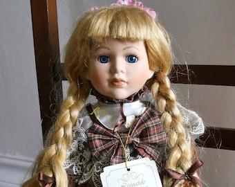 "Leonardo Collection Porcelain Doll  ""Alana"""