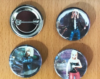 Buffy the Vampire Slayer Seasons 1-3 Hair 1.25' Button Pack
