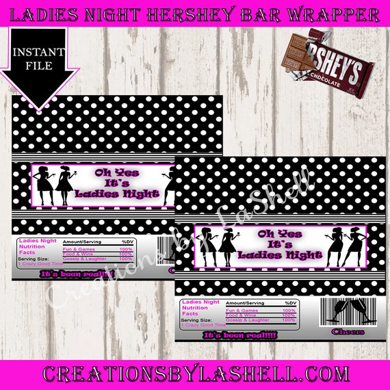 BACHELORETTE Party Hershey/'s Candy Bar Wrappers Last Night Out