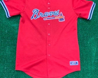 a9d13db9a Vintage Majestic John Smoltz Atlanta Braves Baseball Youth Jersey