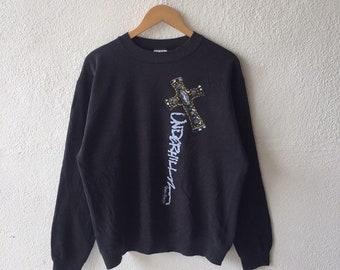 27c031734b Vintage 80s Powell Peralta Big Logo Printed Sweatshirt Crewneck Powell  Peralta Pullover Jumper Black Colour Size L