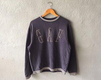 04aebf9a Vintage 90s Gap Spellout Embroidery Sweatshirt Crewneck Gap Pullover Jumper  Gap Blue Colour S Size