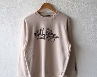 c02af245a3 Vintage 90s Billabong Spellout Printed Sweatshirt Crewneck Billabong  Pullover Jumper Billabong Cream Colour Size M