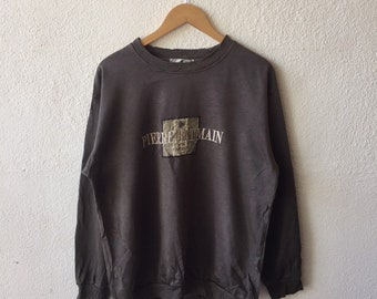 Vintage 90s Pierre Balmain Paris Spellout Embrodiery Sweatshirt Crewneck Pierre  Balmain Pullover Jumper Grey Colour Size L a8a5af70d
