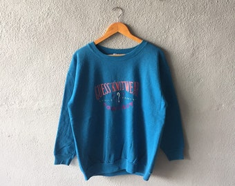 b0b7fada02ac Vintage 80s Guess Spellout Embroidery Sweatshirt Crewneck Guess Pullover  Jumper Guess Blue Colour L Size