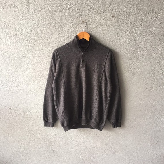 Vintage 90s Lyle Scott Sweatshirt Quater Button Ly