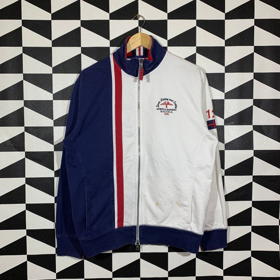 Vintage 90s Nautica Jacket Full Zip Nautica Sweate