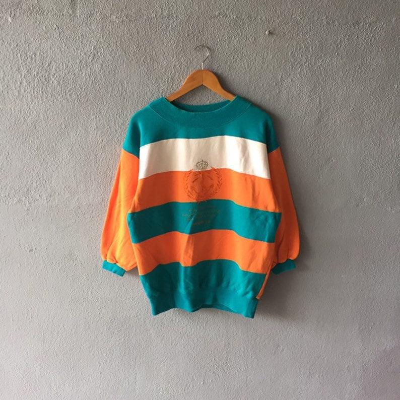 Vintage 90s Gyro Scope Big Logo Embroidery Sweatshirt Crewneck Gyro Scope  Pullover Jumper Gyro Scope Colour Block Size L