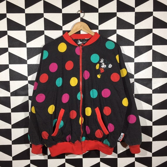 Vintage 90s Mickey Mouse Sweater Full Zip Mickey M