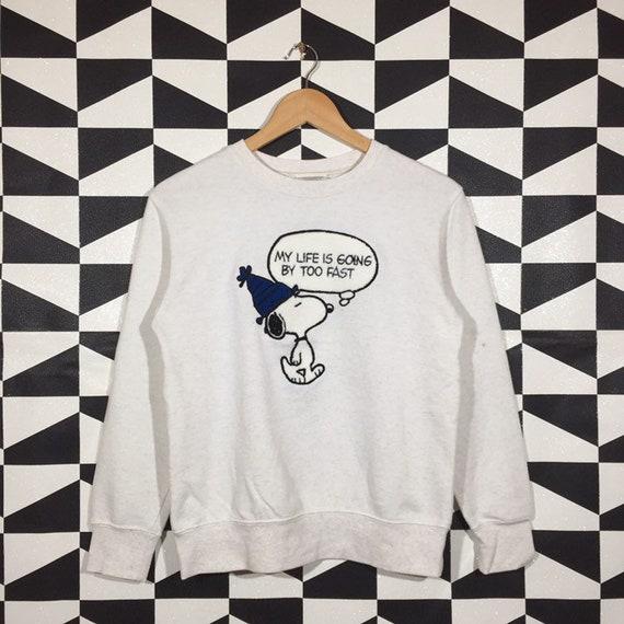 Vintage 90s Peanuts Sweatshirt Peanuts Crewneck Pe