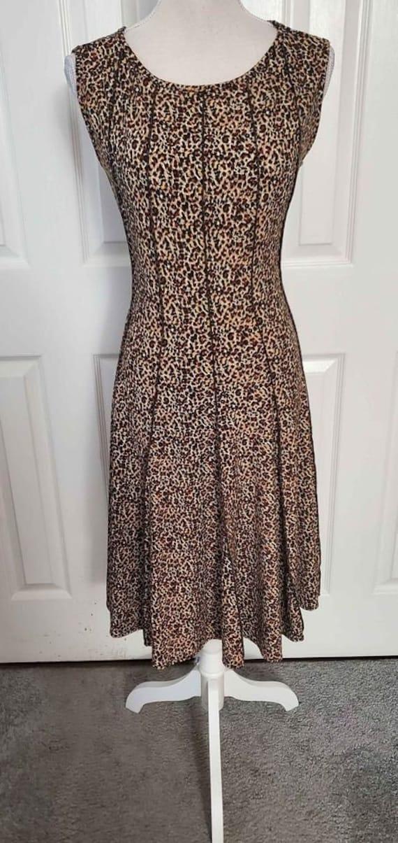 Vintage Cheetah Print Swing Dress