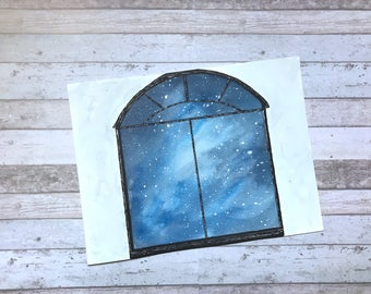 A Glimpse into the Galaxy II - original watercolor painting