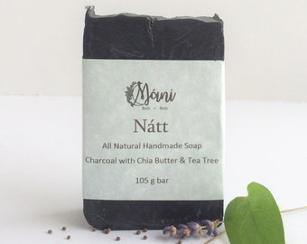 Charcoal Soap with Chia Butter & Tea Tree
