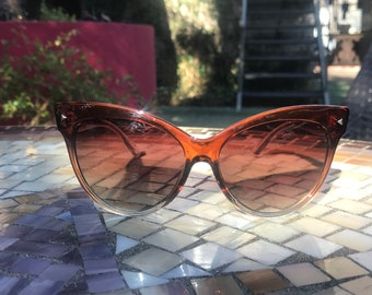 Clear Light Brown Cat Eye sunglasses