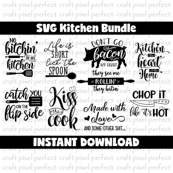 Kitchen Svg Bundle Kitchen Towel Svg Cooking Svg Don T Etsy