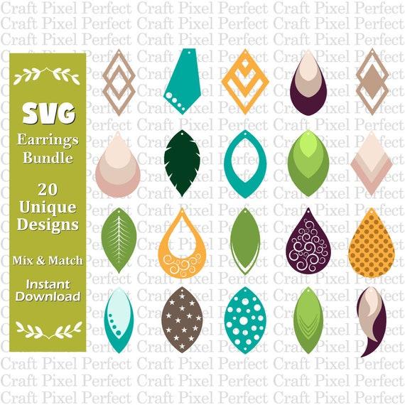 Earrings Template Svg Faux Leather Earrings Svg Earrings Etsy