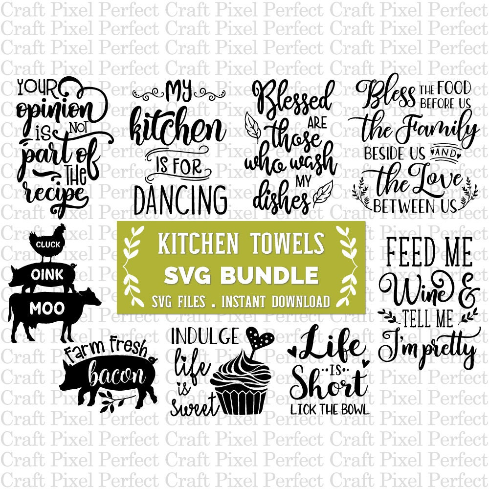 Dish Towel Bundle Svg Svg Bundle Kitchen Towel Svg Kitchen ...