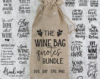 Wine Bag Svg Bundle, Wine Glass Svg, Christmas Wine Svg, Wine Svg, Wine Sayings Svg, Wine Quotes Svg, Funny Wine Svg, Wine Gift Bag Svg