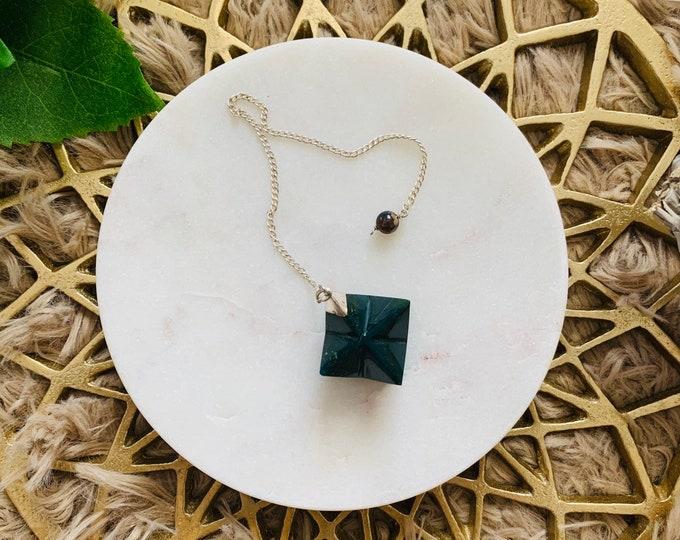 Bloodstone Merkaba Pendulum, Crystal Pendulum