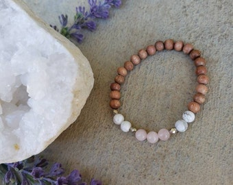 Love and Calming | Rose Quartz + Howlite Bracelet