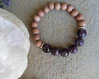 Amethyst  Bracelet, Gift For Her, Febuary Birthstone Bracelet, Gemstone Bracelet