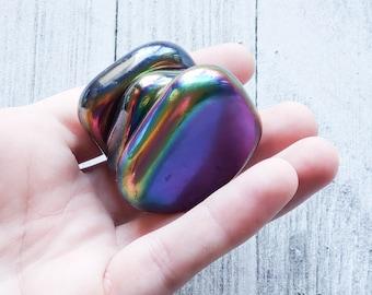 Rainbow Aura Magnetic Hematite Palmstone