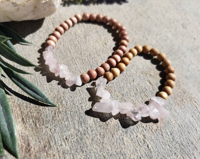 Mother and Daughter Rose Quartz Bracelets