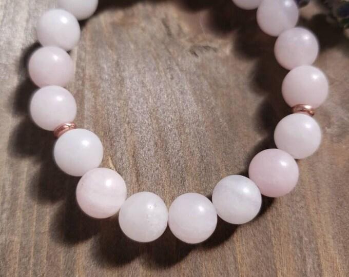 Rose Quartz Bracelet, Love Stone Bracelet, Healing Crystal