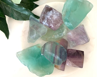 Genius Stone, Rough Fluorite Crystal