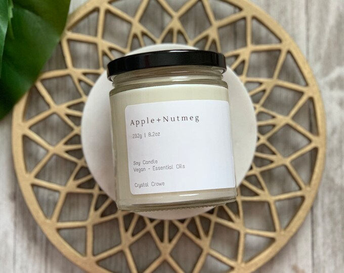 FALL COLLECTION // Medium Soy Wax Candle // 8.2 oz, Vegan, Essential Oils, 70hr Burn Time