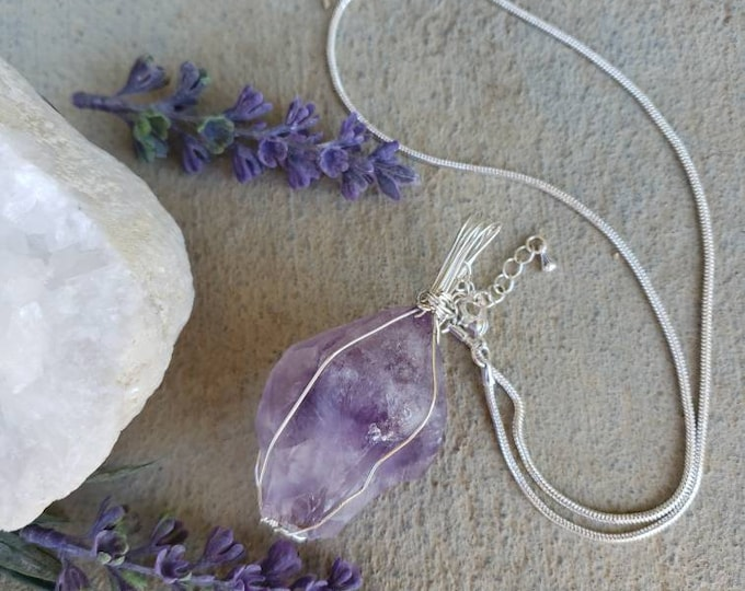 Amethyst Necklace | February Birthstone | Crystal Necklace