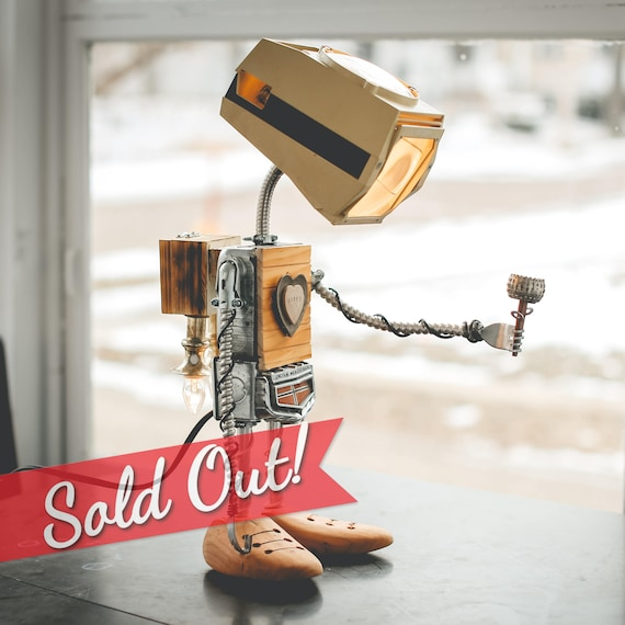 "SOLD OUT** SorryBot ""Fast Eddy"" Robot Lamp with Rocket Pack"