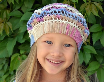 Girls Crochet Hat Crochet Baby Beret Childrens Beret Hat Hats For Girls Colorful Hat Girls Beret Crochet Little Girl Hat Baby Girl Beret