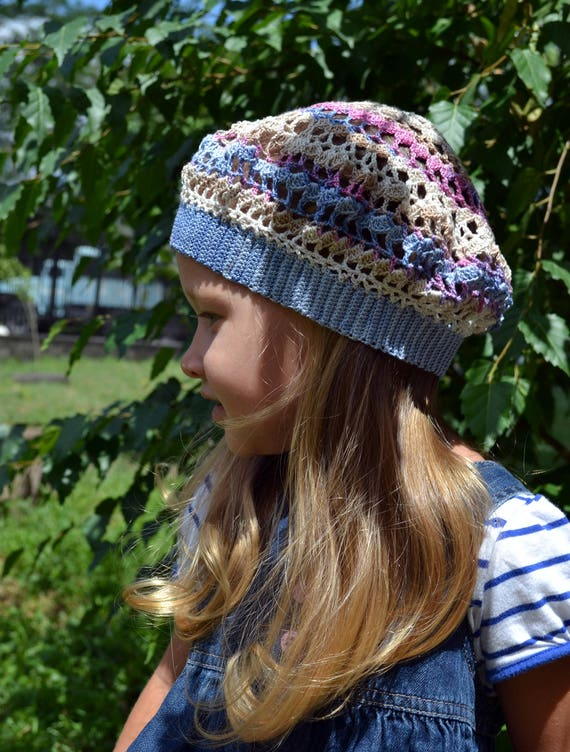 Les filles au Crochet chapeau Crochet bébé béret chapeaux   Etsy 16a48ce1729
