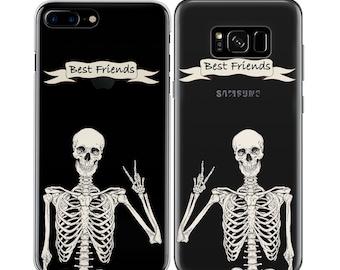 9e03ecb7a2 Best Friend Case iPhones 7 Plus Case Skeleton Art iPhone 8 Clear Case iPhone  XR Case Cover iPhone 5S Apple iPhone 6S Case SE 10 XS Max 5 X 6