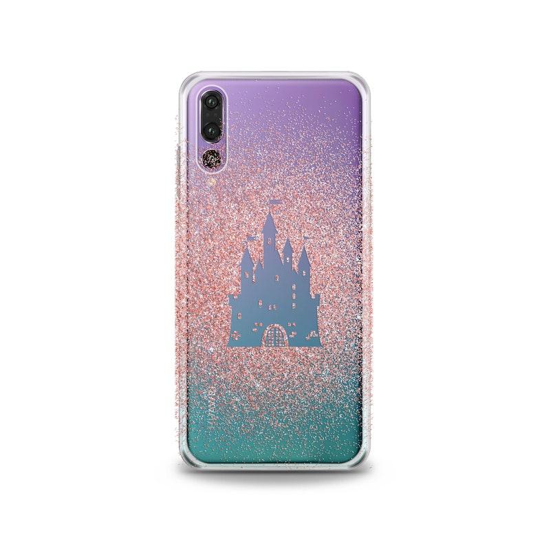 super popular 84a1e 1c89b Castle Print Huawei P20 Pro Case Pink Glitter Lg G6 Lg V30 Plus Case Google  Pixel XL 2 Huawei P10 Lite fairytale V20 Honor 9 10 G7 3 Cover