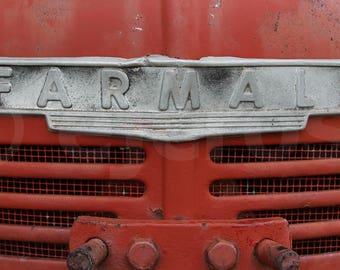 Farmall Tractor grill, digital download, printable, farming print, wall art