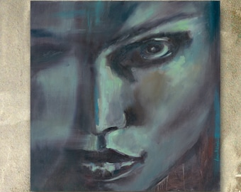 Modern African American art LAST prints SALE Contemporary woman portrait painting wall art Black female face Equality art GICLEE prints